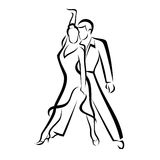 Dancing couple Royalty Free Stock Image