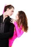 Dancing couple over white Stock Photos