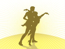 Dancing couple silhouette Royalty Free Stock Photo