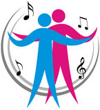 Dancing couple. Vector illustration of dancing couple Royalty Free Stock Images