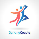 Dancing Couple Vector Symbol Stock Image