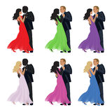 Dancing couple on a white background. Royalty Free Stock Photography