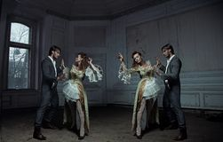 Dancing couples Royalty Free Stock Photography