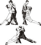 Dancing couples Stock Photo