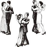 Dancing couples Stock Photos