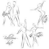 Dancing couples, ballroom dancers Royalty Free Stock Image
