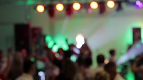 Dancing couples during party or wedding celebration stock footage