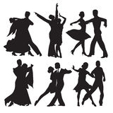Dancing couples vector illustration
