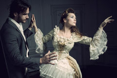 Dancing couples vintige Royalty Free Stock Image