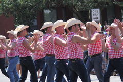 Dancing cowboys Royalty Free Stock Image