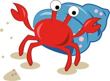 Dancing Crab Royalty Free Stock Photo
