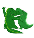 Dancing Crocodiles Royalty Free Stock Images