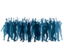 Dancing crowd. Large group of people dancing in a club Stock Images