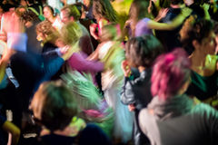 Dancing crowd blur Royalty Free Stock Photography