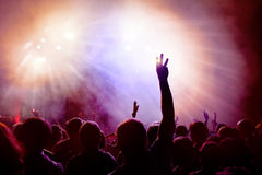 Dancing Crowd at disco. stock photo