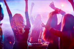 Dancing crowd Stock Photos