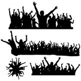 Dancing crowds Royalty Free Stock Image