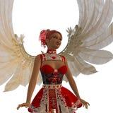 Dancing cupid girl Royalty Free Stock Image
