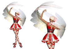 Dancing cupid girl Royalty Free Stock Photos