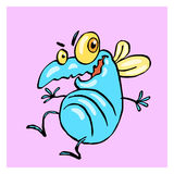 Dancing cute blue fly. vector illustration. Stock Photos