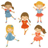 Dancing cuties Stock Image