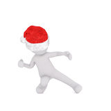Dancing 3D man in red and white hat Stock Photo