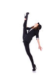 Dancing del ballerino della donna Fotografie Stock