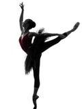 Dancing del ballerino di balletto della ballerina della giovane donna Immagine Stock Libera da Diritti