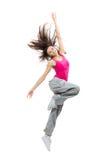 dancing del danzatore dell'adolescente Immagine Stock Libera da Diritti