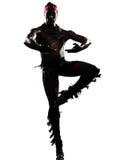 Dancing del danzatore dell'uomo Immagini Stock