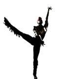 Dancing del danzatore dell'uomo Fotografie Stock Libere da Diritti