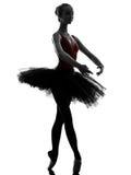 Dancing del danzatore di balletto della ballerina della giovane donna Immagine Stock Libera da Diritti