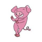 Dancing del maiale Immagini Stock