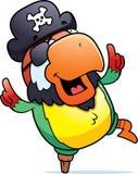 Dancing del pappagallo del pirata Immagini Stock Libere da Diritti