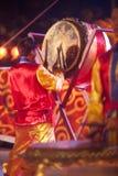 Dancing del tamburo durante il nuovo anno cinese. Fotografia Stock Libera da Diritti