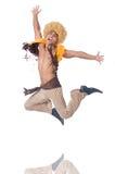 Dancing dell'uomo isolato Fotografie Stock Libere da Diritti