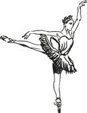 Dancing della ballerina Immagini Stock