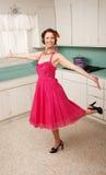 Dancing della donna fotografia stock libera da diritti