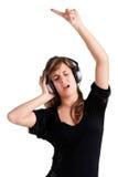 Dancing della donna Fotografie Stock