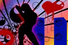 Dancing della donna Fotografie Stock Libere da Diritti