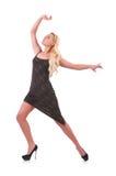 Dancing della donna Immagini Stock
