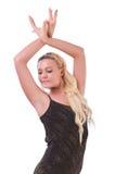 Dancing della donna Immagine Stock Libera da Diritti