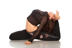 Dancing della donna abbastanza giovane Fotografie Stock Libere da Diritti