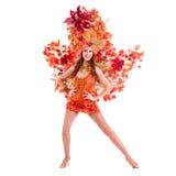 Dancing della donna del ballerino di carnevale Immagini Stock Libere da Diritti