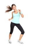 Dancing della donna dell'addestratore di forma fisica di Zumba Fotografie Stock
