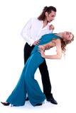 Dancing della donna e del giovane Fotografia Stock Libera da Diritti