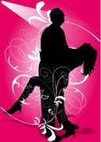 Dancing della donna e dell'uomo Fotografia Stock Libera da Diritti