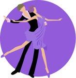 Dancing della donna e dell'uomo Fotografie Stock Libere da Diritti