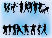 Dancing della folla Fotografia Stock