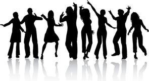 Dancing della gente Immagini Stock
